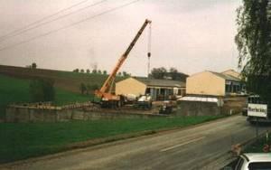 Fertigstellung der neuen Lager- und Ausstellungshalle 1992