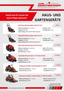 Haus- und Gartengeräte Flyer S. 1