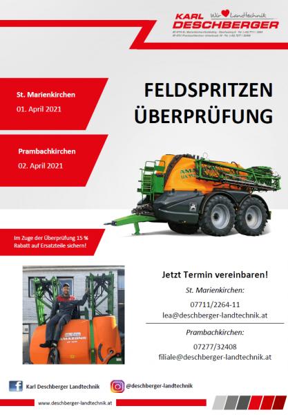 Fyler Feldspritzenüberprüfung